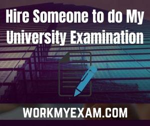 Hire Someone to do My University Examination